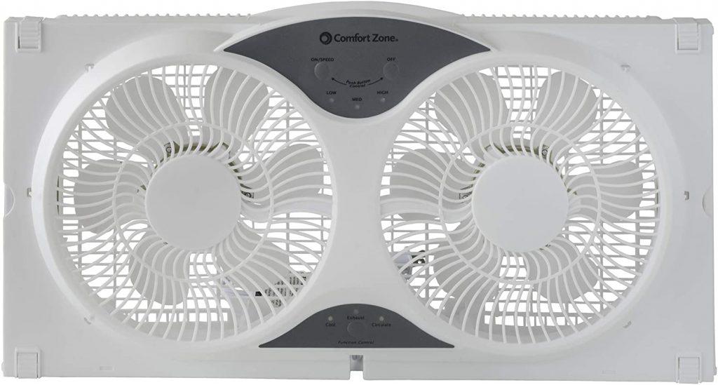 comfort-zone-cZ310r-reversible-twin-window-fan
